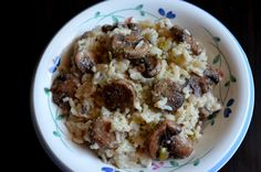 For the Love of Dessert: Mushroom Risotto