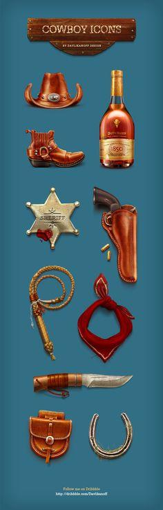 http://davlikanoff.com/portfolio/icons/cowboy/freebie_cowboy_icons_by_davlikanoff.jpg