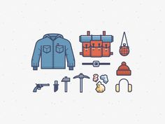 Here is some gear for Rudolph's bud Yukon Cornelius, the original mountainy hipster guy.