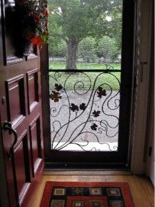 All Weather Designer Style Screen Door Grille Screen Door