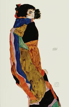"""Egon Schiele ~ The Dancer """"Moa"""", 1911"""