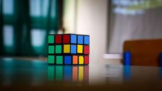 #colorful #cube #object #puzzle #rubik #rubiks cube #table
