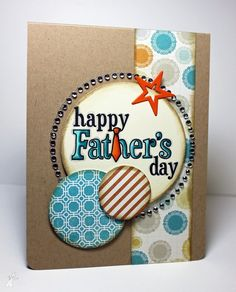 Hand Stamped Greeting Card  Happy Father's Day by Kharmagirl1974, $3.00