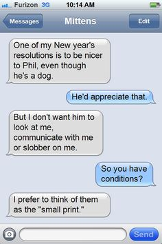 Texts from Mittens: The New Year's Resolutions Edition | Catster