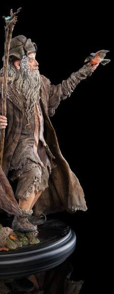 Hobbit Collectibles Radagast the Brown Tolkien Hobbit, Lotr, The Hobbit, Radagast The Brown, Sculptures, Lion Sculpture, Middle Earth, Lord Of The Rings, Gnomes