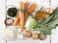 Zutaten für das Rezept: Möhren-Kohlrabi-Gratin