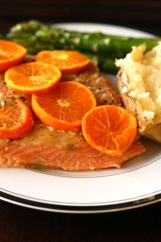 """Orange Grilled Salmon"" Salmon, Oranges, Brown Sugar, Kosher Salt."