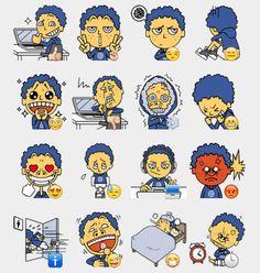 Hackobo Stickers Set   Telegram Stickers Telegram Stickers, Emoticon, Caricature, Cartoon Characters, Trending Memes, Peanuts Comics, Funny Jokes, Kawaii, Illustration
