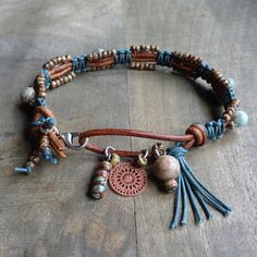 Impression jasper western bracelet boho chic bracelet Macrame