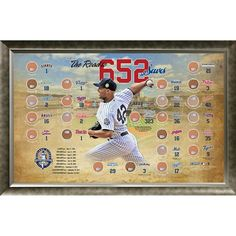 Mariano Rivera Road to 652 Saves MLB Parks Map 20x32 Framed Collage w Game Used Dirt From 24 Parks