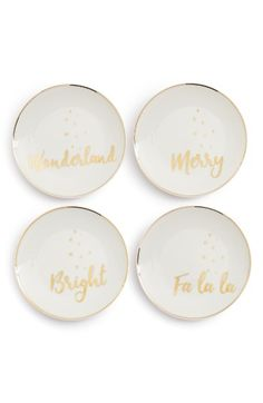 Free shipping and returns on American Atelier Set of 4 Holiday Appetizer Plates at Nordstrom.com. Perfect for serving up warm hors d'oeuvres or Christmas cookies, this set of porcelain appetizer plates is perfect for your next holiday party.