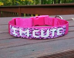 "I'M CUTE Beaded Dog Collar by PebblesPearlsBaubles on EtsyI have a sheltie that thinks she runs the household. She has the way of crossing her front paws when she lays down and just looks at you as if to say, ""I'm cute, now give me a cookie."" So we smile and get her a cookie. Who has who trained, right?"