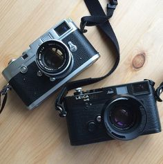 I love my leica - film-camera-legacy: A super duo. The mighty M6...