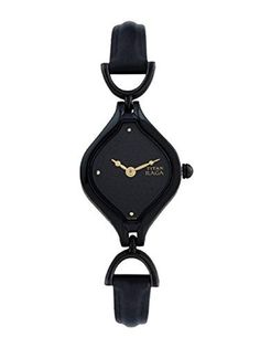Shop Titan Women's Raga Black Dial Analog Watch ✓ free delivery ✓ free returns on eligible orders. Fossil Watches, Cool Watches, Wrist Watches, Couple Watch, Breitling Watches, Rose Gold Watches, Luxury Watches For Men, Watches Online, Digital Watch