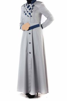 Abaya Fashion, Muslim Fashion, Grey Coats For Women, Jacket Dress, Dresses For Work, Suits, Jackets, Gowns, Accessories