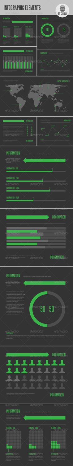 Infographic Elements - Green - GraphicRiver Item for Sale