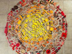 Artists Transform Ordinary Objects Found Throughout Their Home into Colorful Mandalas