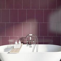 Studio Conran plain plum field gloss tile x