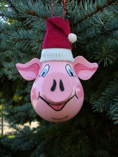 Pig Lightbulb Ornament - design by CAyers