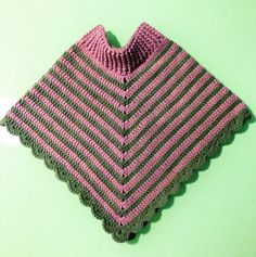 Poncho para bebe #crochet #ganchillo
