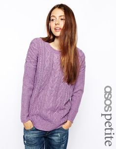 ASOS PETITE Aran Sweater, UK 8/US 4: slouchy fit for a Small, more fitted for a Medium. Been worn and washed, but in very good condition. Swap or 25 shipped.