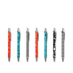 Kuglepenne som er værd at skrive hjem om og hjem med. Du får tre af dem for en tyver, og vi har selv designet dem. Kr. 20,-