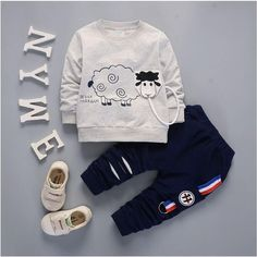 IENENS Spring Autumn Children Kids Boys Boy Outfits Suits Baby Toddler Clothing Sets Cotton Clothes Long Sleeves T-shirt + Pants We offers a wide selection of trendy style women's clothing. Affordable prices on new tops, dresses, outerwear and more. Baby Outfits, Toddler Boy Outfits, Baby & Toddler Clothing, Toddler Boys, Kids Outfits, Kids Boys, Baby Boy Fashion, Toddler Fashion, Kids Fashion