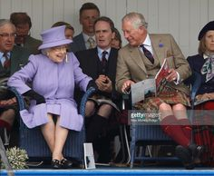 Queen Elizabeth II and Prince Charles, Prince of Wales attend the 2016 Braemar Highland Gathering at The Princess Royal and Duke of Fife Memorial Park on September 3, 2016 in Braemar, Scotland. There has been an annual gathering at Braemar, in the heart of the Cairngorms National Park, for over 900 years. The current gathering, in the form of a Highland Games and run by the Braemar Royal Highland Society (BRHS), takes place on the first Saturday in September and sees competitors in Running…