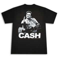 Johnny Cash Flipping The Bird T-Shirt