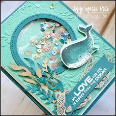 Mason Jar Cards, Nautical Cards, Paper Crafts, Diy Crafts, Shaker Cards, Animal Cards, Card Maker, Whales, Kids Cards