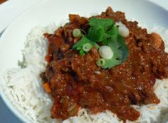 Low FODMAP Recipe - Chilli con carne with rice