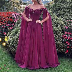 Dress Clothes For Women, Formal Dresses For Women, Elegant Dresses, Chiffon Evening Dresses, Formal Evening Dresses, Dress Formal, Bridal Dresses, Bridesmaid Dresses, Prom Dresses