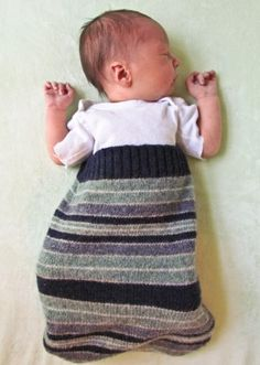 baby bunting from recycled sweater (wish I would have known about this before I tried knitting one!)