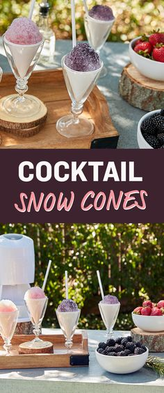 You're not dreaming -- these white wine snow cones are the real deal and super easy to make! These would be awesome for a bachelorette or bridal shower, or even as a fun way to serve drinks at a wedding! Bar Drinks, Cocktail Drinks, Cocktail Recipes, Alcoholic Drinks, Cocktails, Drink Recipes, Refreshing Drinks, Summer Drinks, Cheers