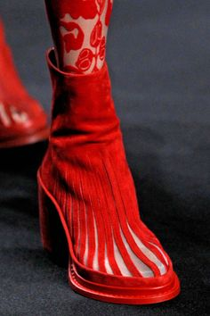 ~Ann Demeulemeester S/S 2014 - Boots | The House of Beccaria#