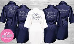Bridesmaid gift Bridesmaid Robes Satin Bridesmaid Robes