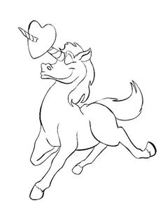 Unicorn Love Coloring Pages