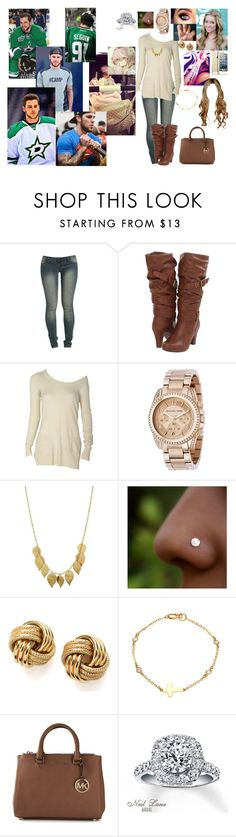 """Untitled #87"" by destiny-holman ❤ liked on Polyvore featuring Wet Seal, Madden Girl, Michael Kors, People Tree, Novo, Lauren Conrad, Sterling Essentials, MICHAEL Michael Kors and Neil Lane"