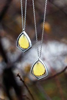 Vrai papillon ailes bijoux vitrail papillon pendentif par WWHeart