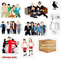 One Direction Lockscreen, One Direction Images, One Direction Quotes, Phone Stickers, Cute Stickers, Printable Stickers, Planner Stickers, Imprimibles One Direction, Desenhos One Direction