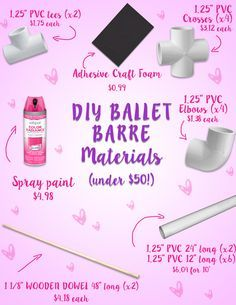 Time to stop using counter, bed frames and bookshelves to get your legs up when you practice outside of the studio! Let's make a DIY ballet barre for under $50.