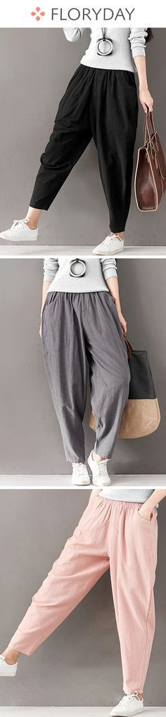 Harem Cotton Pants Pants & Leggings, cotton pants, casual pants, fashion, stylish pants, new style, outfit, spring summer in 2018.