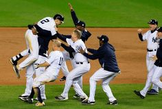 Scene from Derek Jeter's final game at Yankee Stadium, New York City, NY