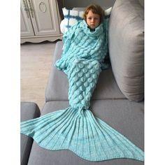 Fish Scales Design Mermaid Blanket for Kids