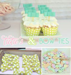 tutus & bow ties - cute shower idea for someone who's waiting to find out boy or girl.