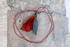 END of SUMMER SALE Woodland Necklace  Fall Leaves by OdPaAm, $21.90