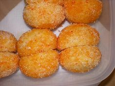Pesche - Italian Peach Wedding Cookies will be a wonderful addition to your wedding reception menu. Cookie Table, Cookie Desserts, Dessert Recipes, Dessert Food, Italian Cookie Recipes, Italian Cookies, Italian Wedding Cookies, Peach Cookies, Little Peach