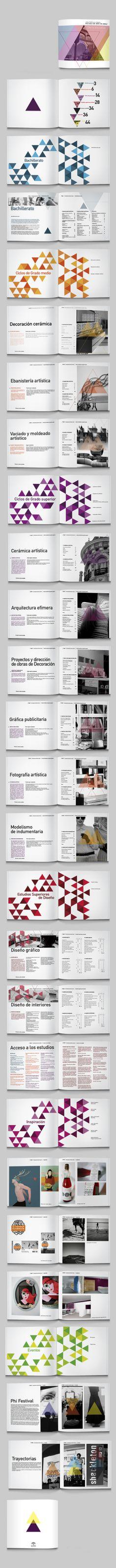 Catálogo escolar by Felipe LaviM, via Behance