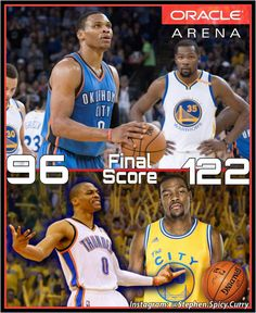 The reunion game for KD and Russell Westbrook was icy to say the least! Kevin Durant did NOT take it easy on his old teammates in the Dubs 122-96 drubbing of the OKC Thunder at Oracle!  Warriors are now 4-1 for the season. KD went off for 39 points on 24 shots with 7 rebounds in 31 minutes of play. It's getting way too good! @nba @nbaontnt @oraclearena @warriors @okcthunder @russwest44  #nba #nbaontnt #oraclearena #KevinDurant #warriors #okcthunder #RussellWestbrook
