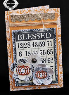 TERESA COLLINS DESIGN TEAM: Blessed card....by Julie
